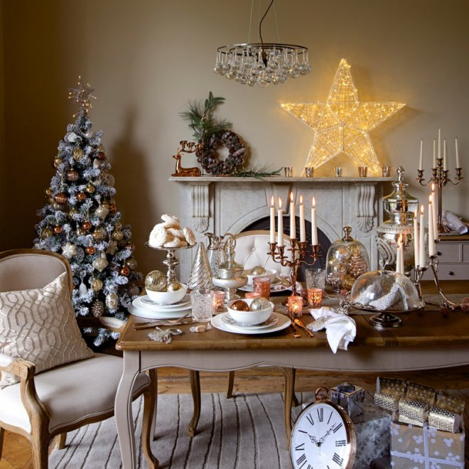 Une table de Noël chic !