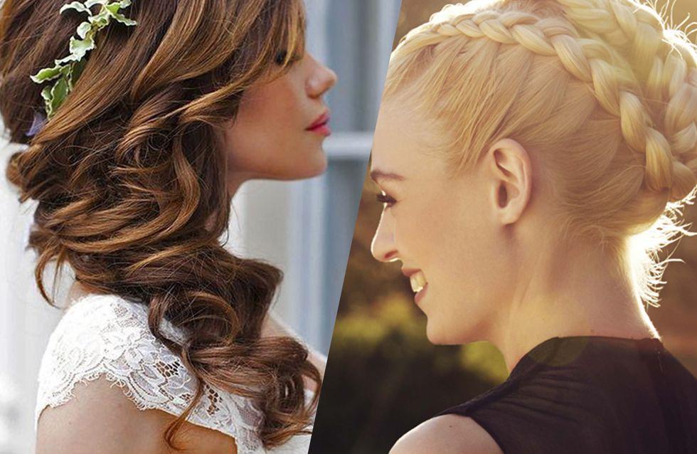 coiffures de mariage - idées belles coiffures de mariée