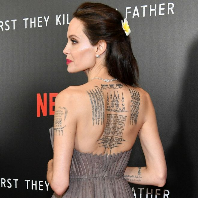 I tatuaggi delle star - Angelina Jolie
