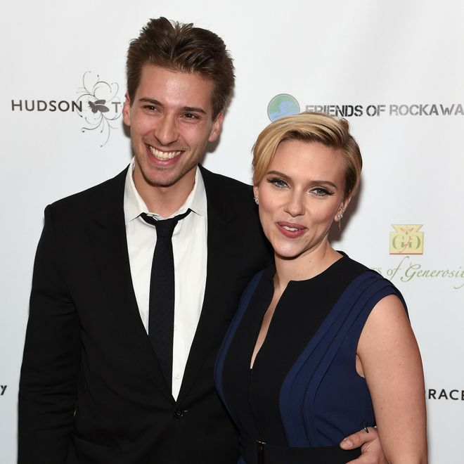 Hunter e Scarlett Johansson