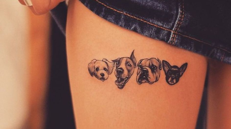 Más de 50 tatuajes geniales para amantes de los perros