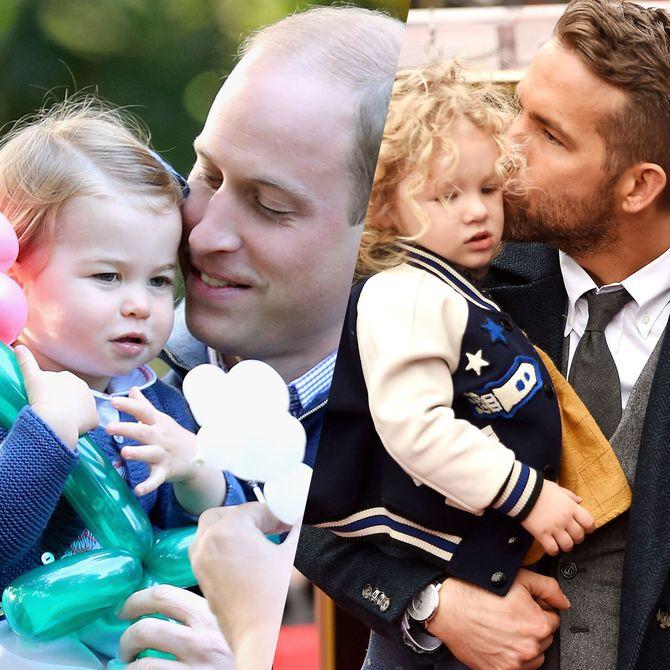 Les papas stars et leurs enfants