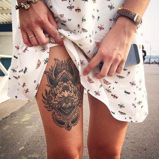 Tatuajes Para Piernas Foto Enfemenino