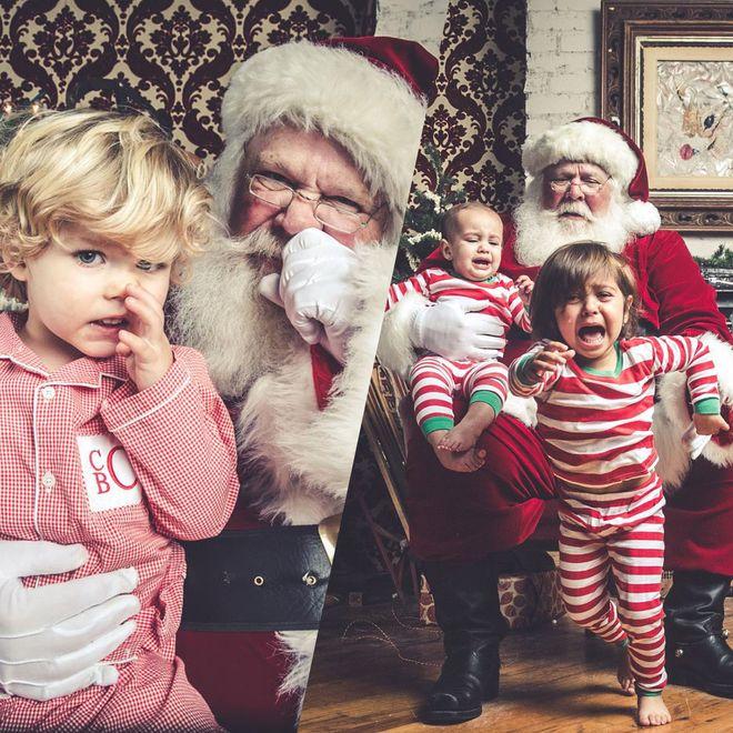 La séance photos avec le Père Noël