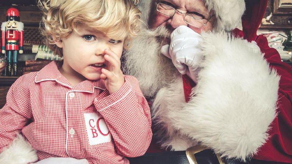 Le foto più esilaranti di Babbo Natale con i bambini