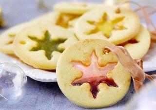 Biscuits vitraux de Noël