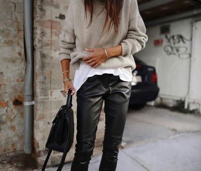 Cómo llevar leggins de cuero