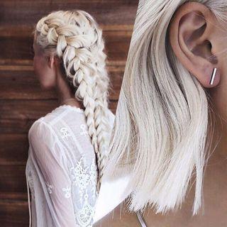 Nuances blond platine repérées sur Pinterest