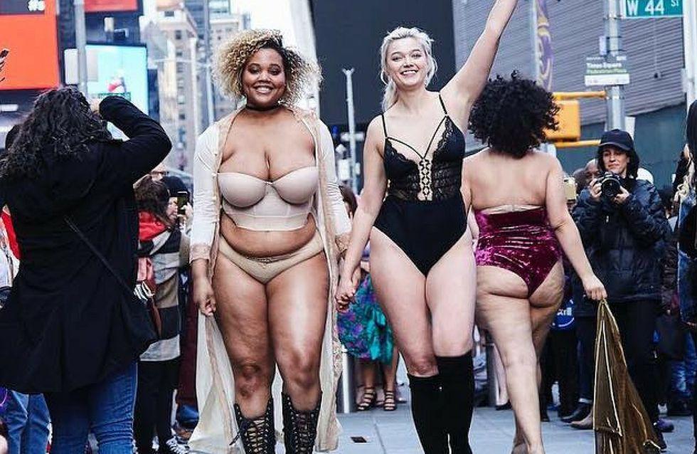 #theREALcatwalk: la sfilata in lingerie per la body positivity