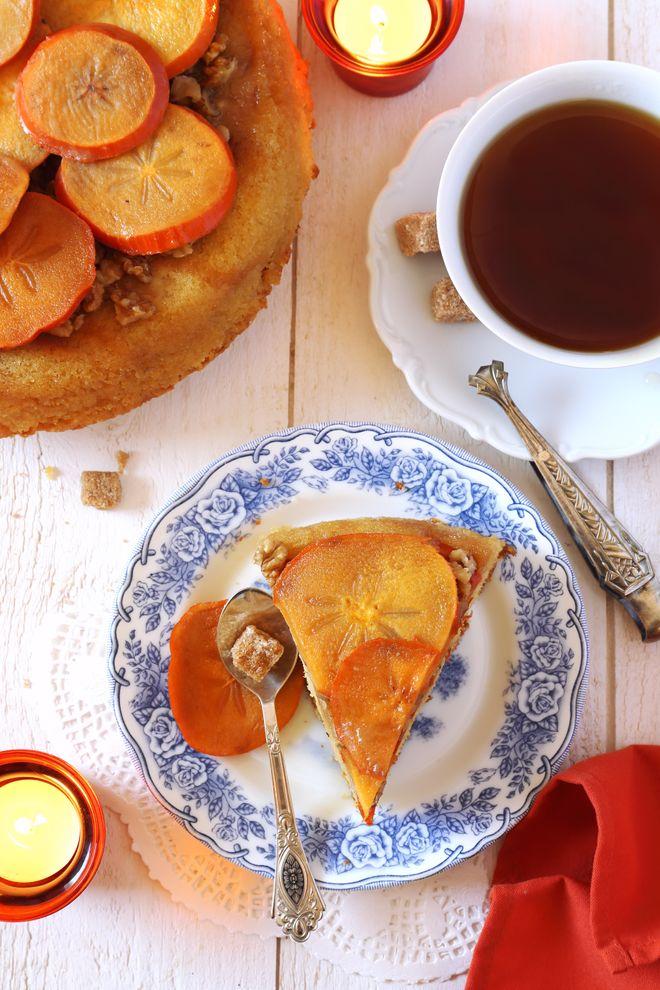 Gâteau aux kakis et miel