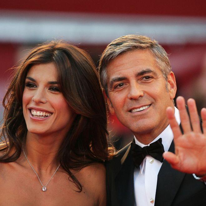 Famosos que no llegaron a casarse - Elisabetta Canalis y George Clooney