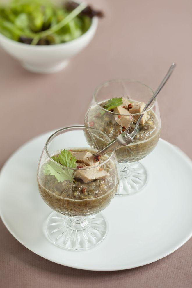 Lentilles au foie gras