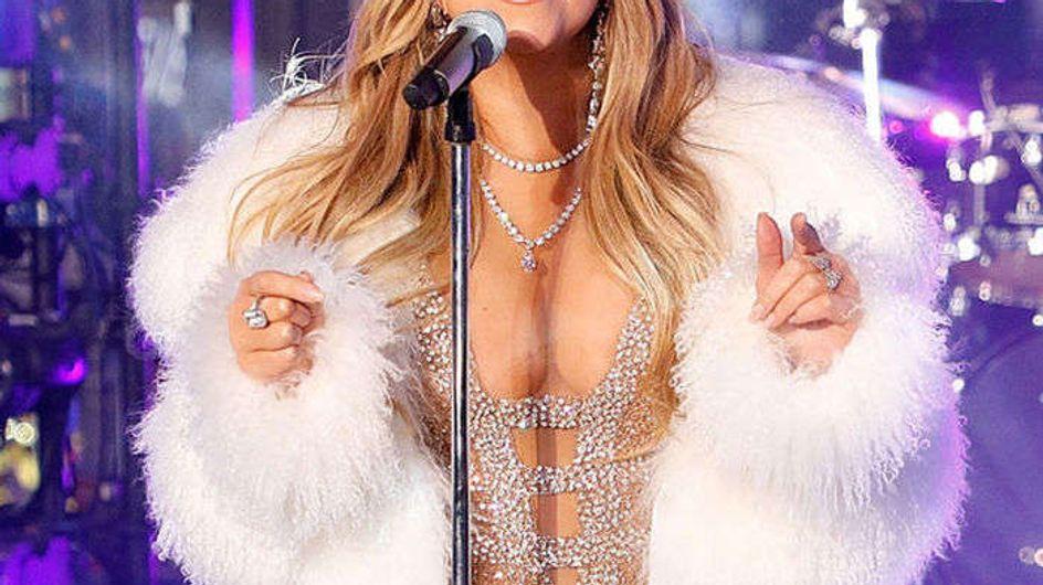Mariah Carey despide el año (sin playback) en Times Square