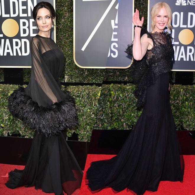 Les célébrités vêtues de noir pour les Golden Globes 2018