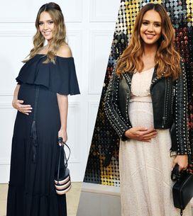 Jessica Albas maternity style