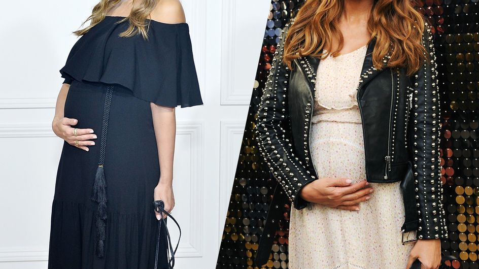 Jessica Albas maternity style