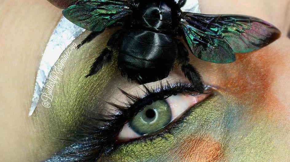 Maquillaje con insectos, la técnica con la que no damos crédito