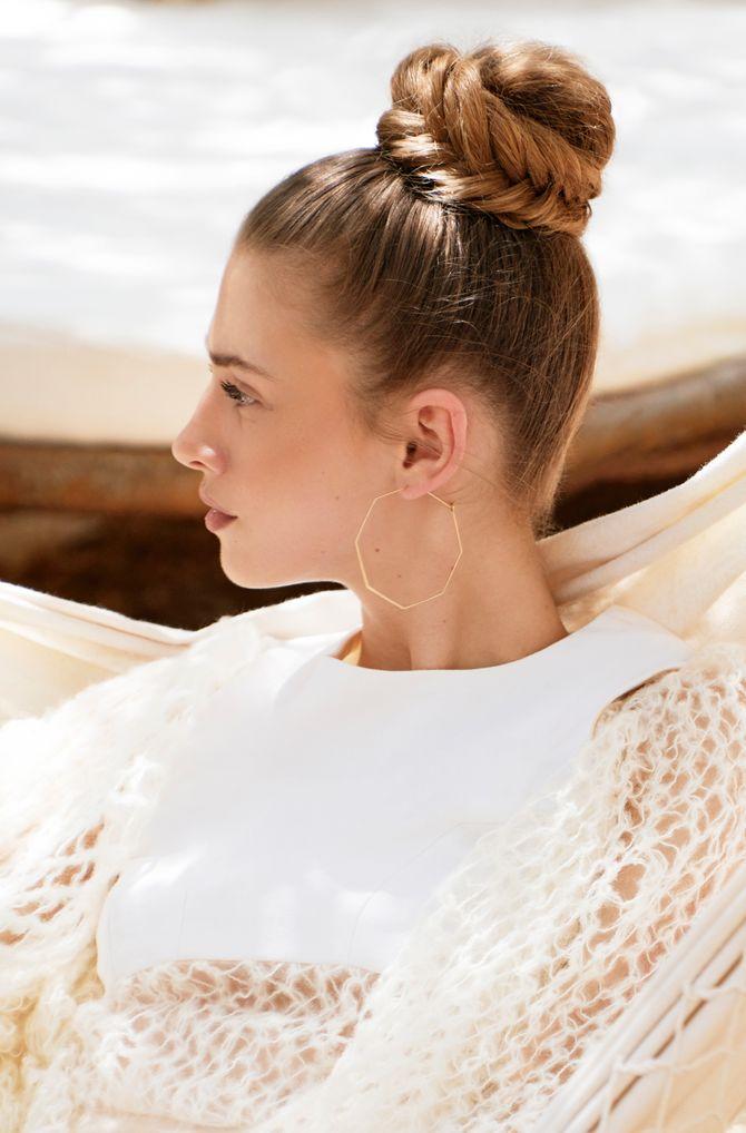 Le chignon tressé, une idée de coiffure pour cheveux longs