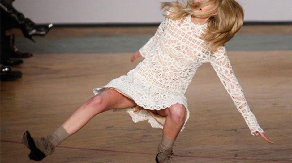 Las caídas más graciosas de las modelos en la pasarela