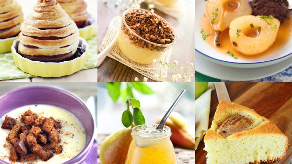 Poires : 30 recettes qui vont vous mettre en appétit