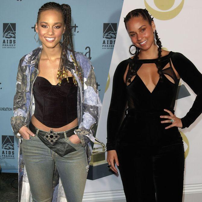 Retour sur l'évolution beauté d'Alicia Keys à travers les années