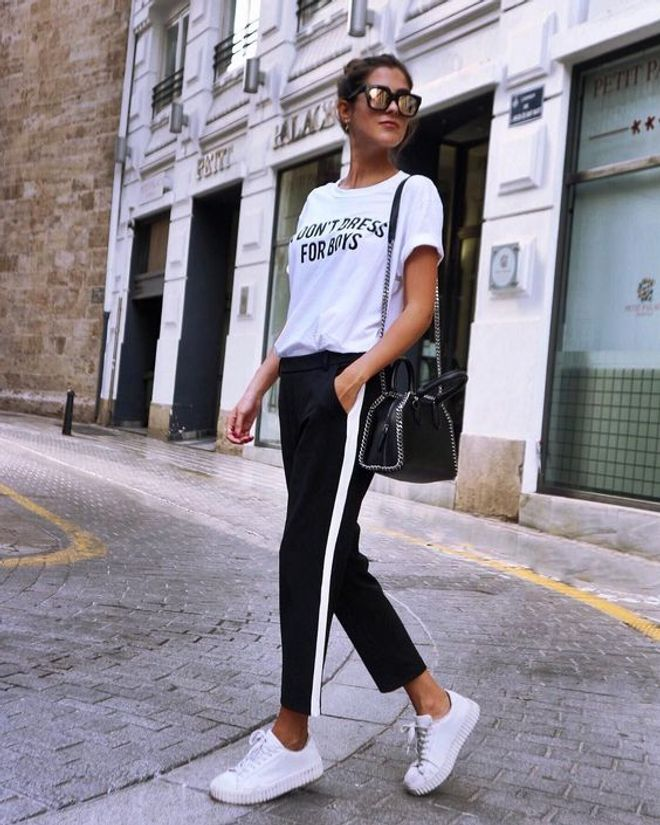 Mery Turiel - Looks con pantalones de rayas
