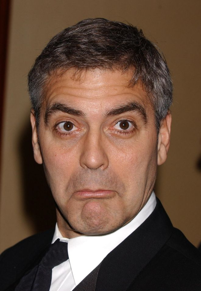 Le facce buffe delle star: gli scatti più divertenti dei vip - George Clooney