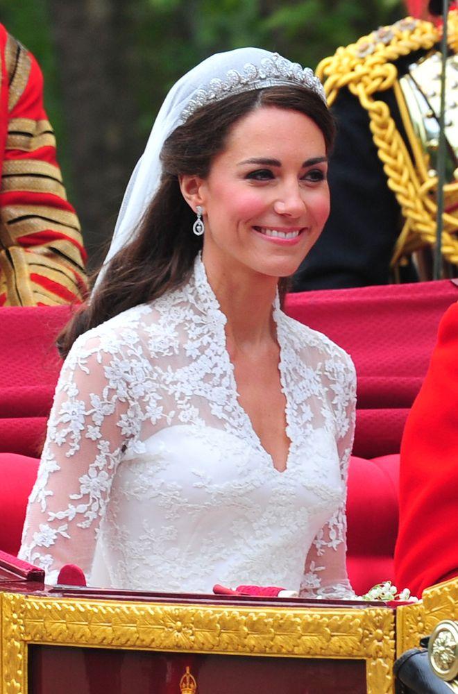 Kate an ihrem Hochzeitstag