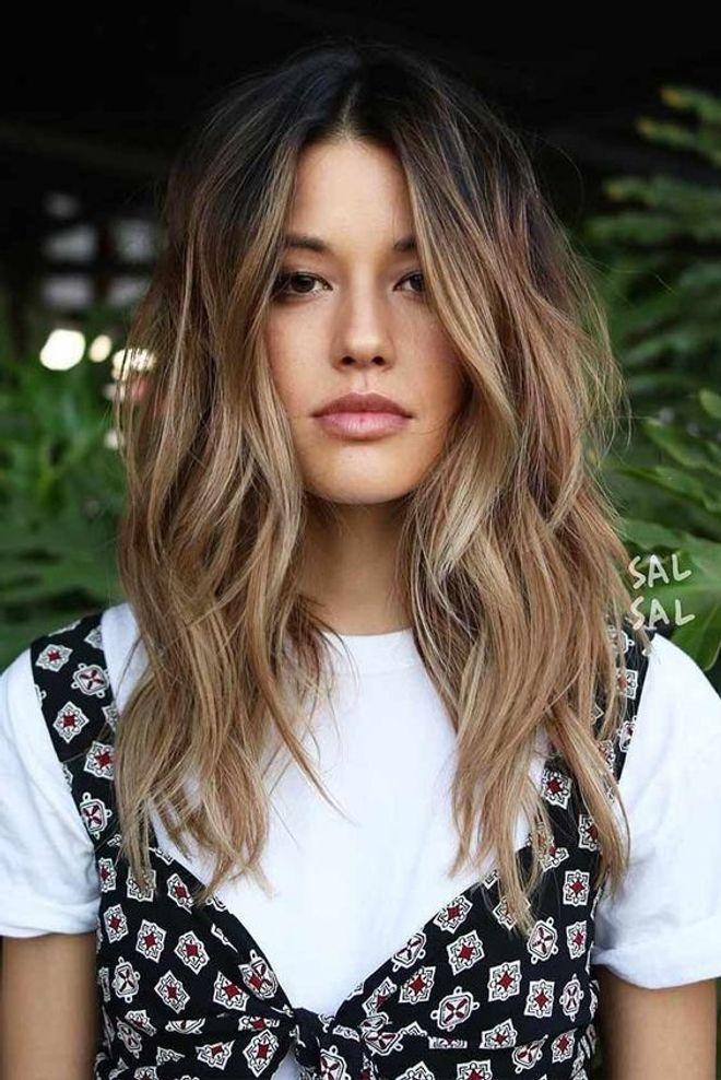 Peinados 2018 - Ondas con raya en medio