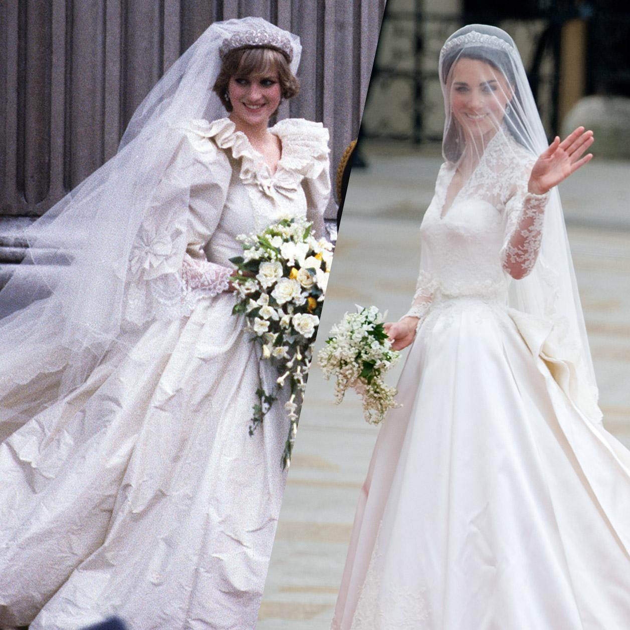 Les robes de mariée de la famille royale