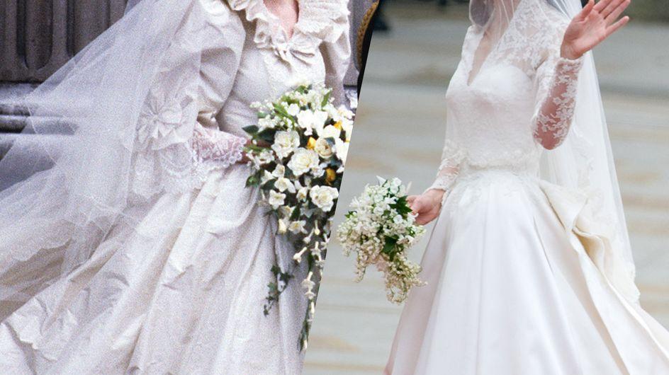 Von Lady Di bis Kate: Die schönsten Brautkleider der britischen Royals