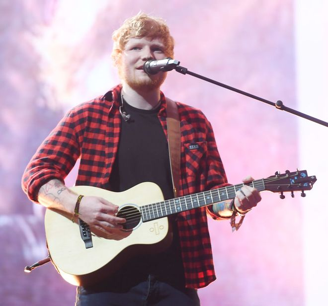 Ed Sheeran at Glasto 2017
