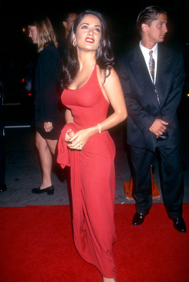 """1995: Salma bei der Premiere von """"Desperado"""" in Beverly Hills"""