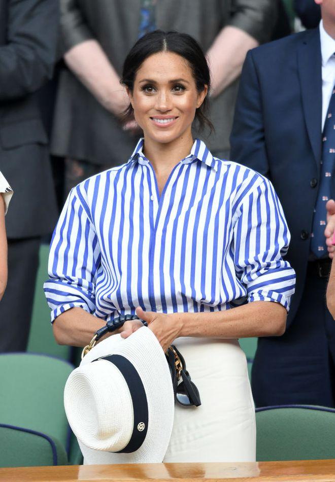 Juli 2018: Meghan Markle im sportlichen Look bei Wimbledon