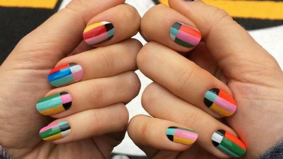 Color block: la nail art geometrica è la tendenza della primavera estate!