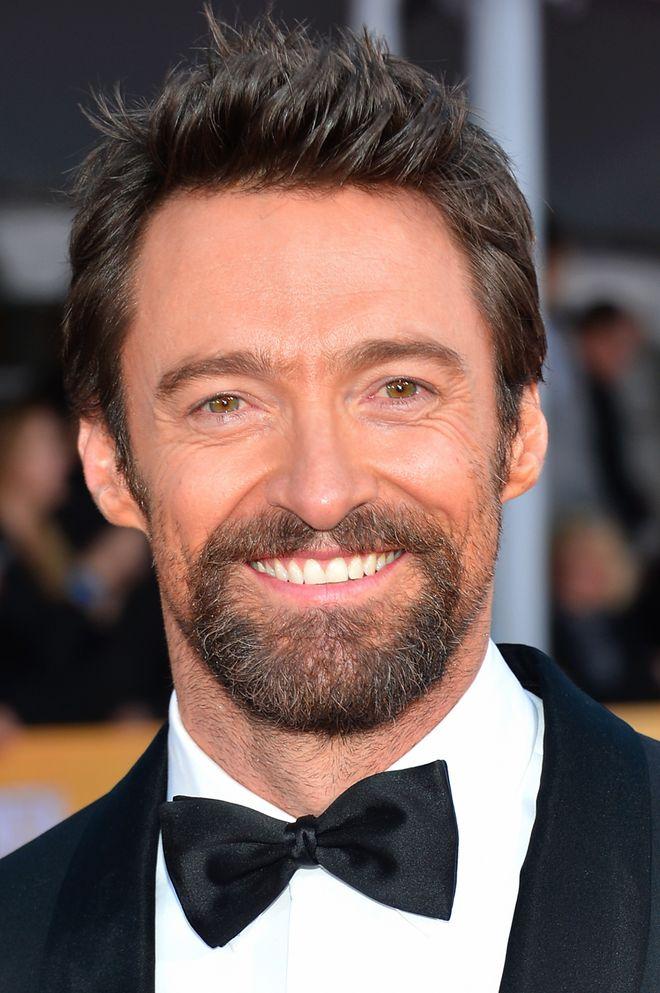 Attori con e senza barba - Hugh Jackman con barba