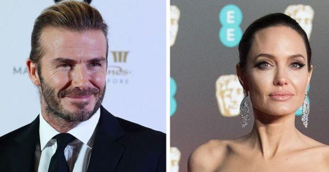 David Beckham und Angelina Jolie