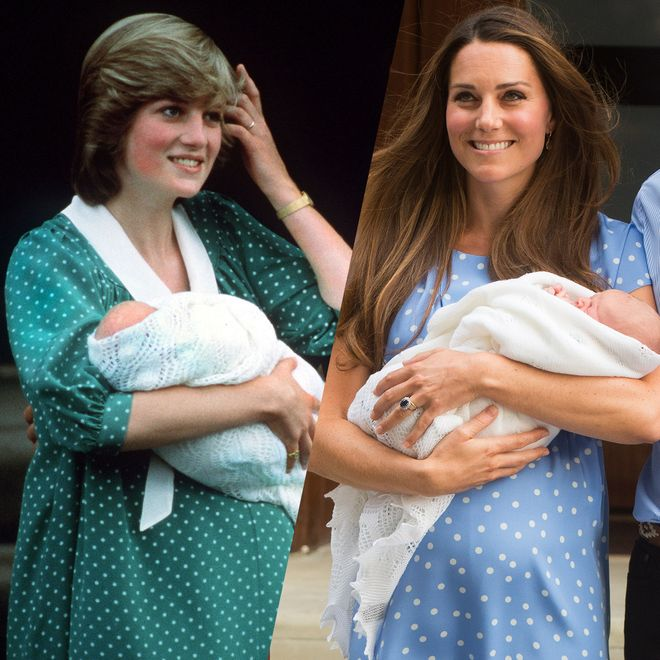 Lady Diana and Kate Middleton