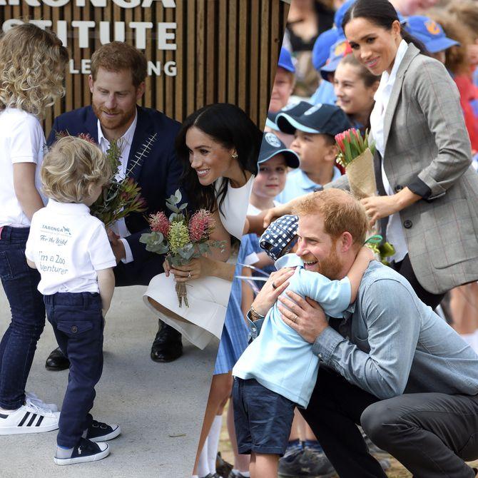 Ces adorables photos de Meghan Markle et du prince Harry avec des enfants