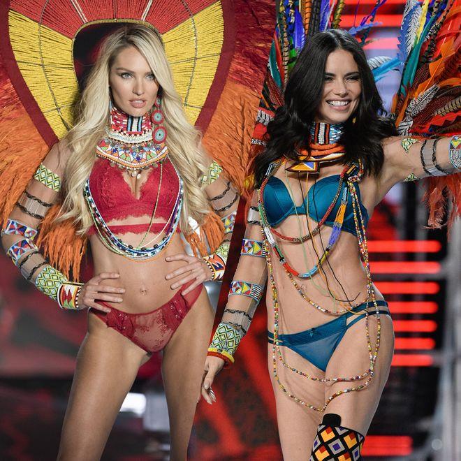Les mannequins du défilé Victoria's Secret 2018