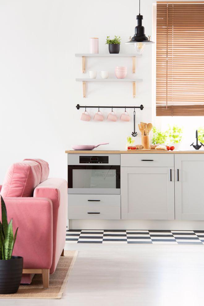 Une petite cuisine ouverte