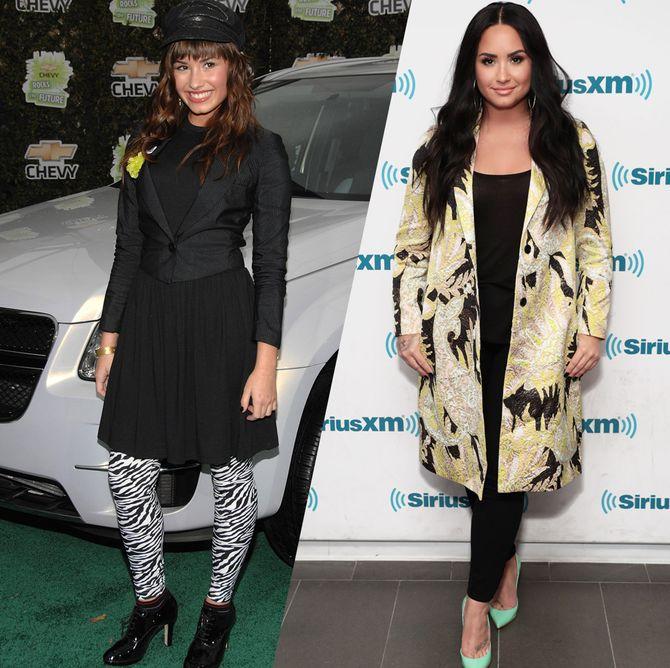 D'enfant Disney à star de la pop : retour sur l'évolution mode de Demi Lovato
