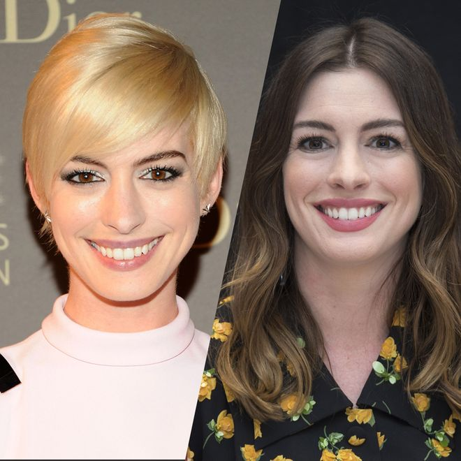 Retour sur la surprenante évolution capillaire d'Anne Hathaway