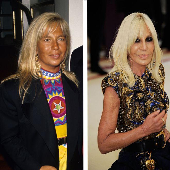 Donatella Versace 1990 und 2018