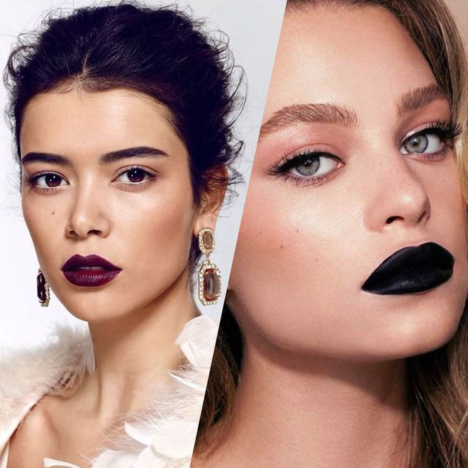 Les plus belles façons de porter un rouge à lèvres foncé