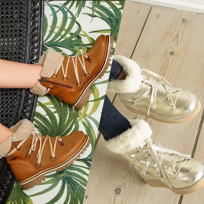 Des bottes fourrées pour l'hiver