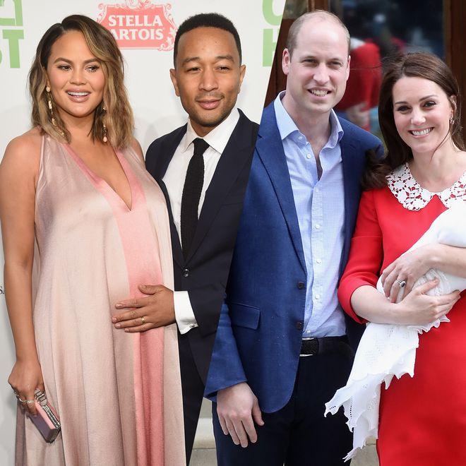 Chrissy Teigen et John Legend / Kate Middleton et le prince William