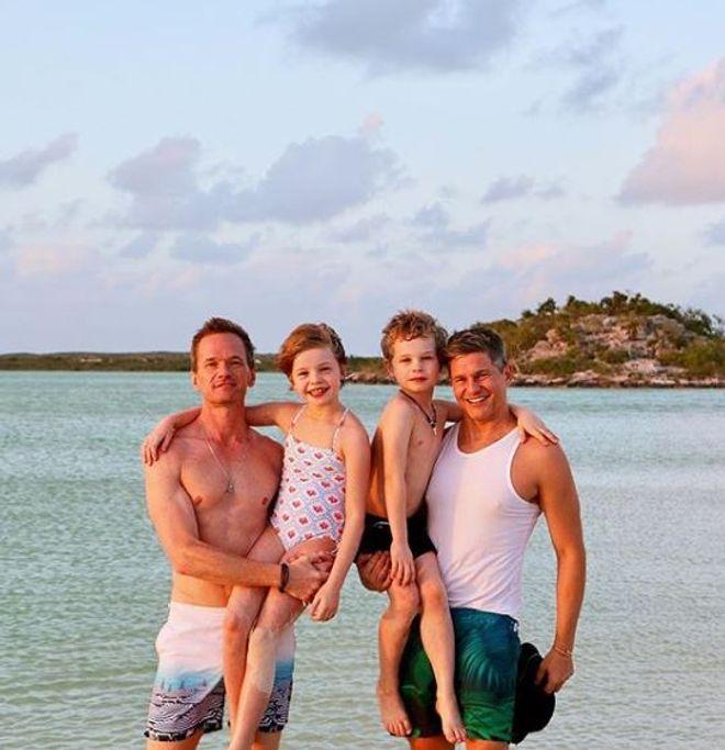 Schauspieler Neil Patrick Harris und seine Familie
