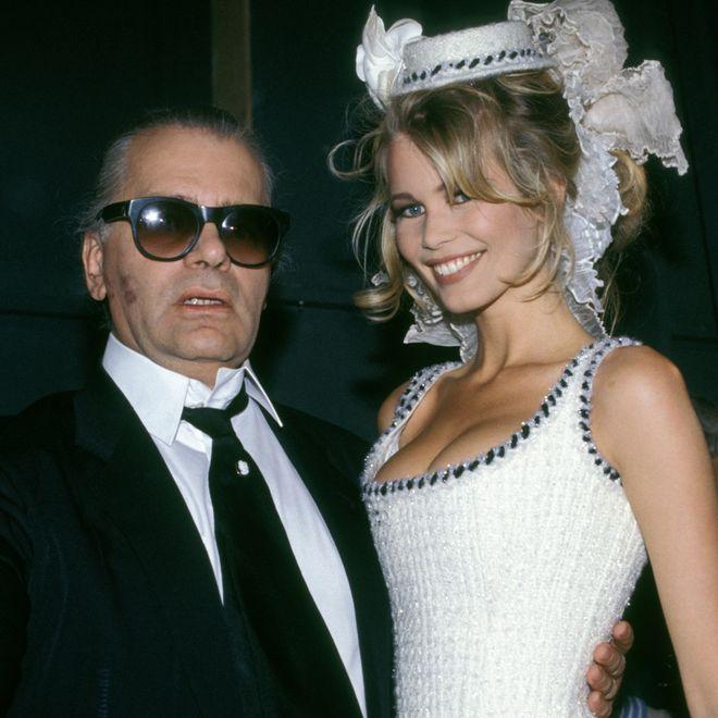 Karl Lagerfeld e Claudia Schiffer