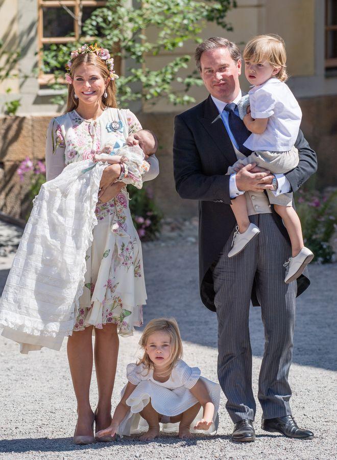 Madeleine von Schweden mit ihrem Mann und den drei Kindern, 2018